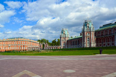 Moscow, Russia - June 08, 2016. The central square in museum estate of Tsaritsyno Stock Photography