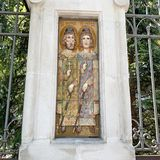 Moscow, Russia, June. 20, 2019.  Church of the entry of the Most Holy Virgin into the Temple, Barashevsky pereulok, 8/2. Decorativ royalty free stock image