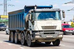 Iveco Trakker. Moscow, Russia - June 2, 2012: Dump truck Iveco Trakker at the interurban freeway stock photos