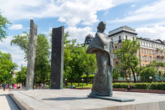 Moscow, Russia - June 02.2016. Monument to Nadezhda Krupskaya on Sretensky Boulevard Royalty Free Stock Images