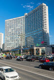 Moscow, Russia -03 June 2016. New Arbat Street - one of central streets the city. Moscow, Russia -03 June 2016. New Arbat Street - one of the central streets of Stock Photo