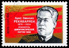 Birth Centenary of L.E. Rekabarren, Birth Centenaries serie, circa 1976. MOSCOW, RUSSIA - JUNE 19, 2019: Postage stamp printed in Soviet Union USSR devoted to stock photography