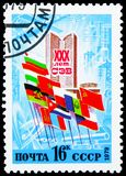 30th Anniversary of Council of Mutual Economic Aid, circa 1979. MOSCOW, RUSSIA - JUNE 19, 2019: Postage stamp printed in Soviet Union USSR devoted to 30th stock images