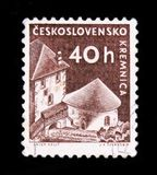 MOSCOW, RUSSIA - JUNE 20, 2017: A stamp printed in Czechoslovaki Royalty Free Stock Images
