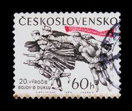 MOSCOW, RUSSIA - JUNE 20, 2017: A stamp printed in Czechoslovaki Stock Photo