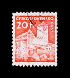 MOSCOW, RUSSIA - JUNE 20, 2017: A stamp printed in Czechoslovaki Stock Photography