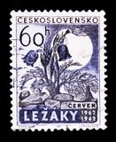MOSCOW, RUSSIA - JUNE 20, 2017: A stamp printed in Czechoslovaki Stock Images
