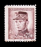 MOSCOW, RUSSIA - JUNE 20, 2017: A stamp printed in Czechoslovaki Royalty Free Stock Photo
