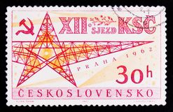 MOSCOW, RUSSIA - JUNE 20, 2017: A stamp printed in Czechoslovaki Royalty Free Stock Image