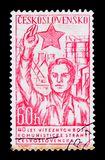 MOSCOW, RUSSIA - JUNE 20, 2017: A stamp printed in Czechoslovaki Royalty Free Stock Photos
