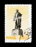 I. Repin monument in Moscow, circa 1959 Stock Image
