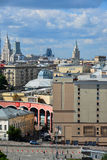 Moscow, Russia - June 8, 2016. View of downtown on top Stock Photography