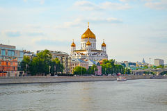 MOSCOW, RUSSIA - JUNE 14, 2016: a view of the Temple of Christ the Savior Royalty Free Stock Image