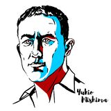 Yukio Mishima Portrait vector illustration