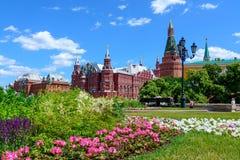 moscow russia Juni 20, 2018: Röd fyrkant och det statliga historiska museet av Ryssland Fotografering för Bildbyråer