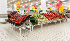 Moscow, Russia JUNY 22 Shopping. Center Auchan on Juny 22, 2016 in Moscow, Russia. Auchan is one of the largest companies on russian market Royalty Free Stock Photography