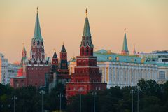 Moscow, Russia, The Moscow Kremlin. Photos September 23, 2017 Stock Photography