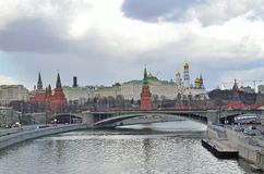 Moscow, Russia,  kremlin in rainy weather. In spring Stock Images