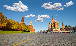 Moscow. Russia. Moscow Kremlin and at St. Basil Cathedral on Red Square in Moscow. Russia stock photography
