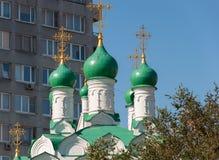 moscow russia Kyrkliga Simeon på kocken som byggs i 1676 Arkivbild