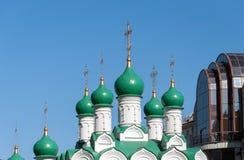 moscow russia Kyrkliga Simeon på kocken som byggs i 1676 Arkivfoton