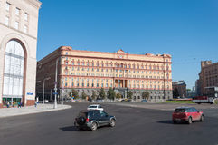 MOSCOW, RUSSIA - 21.09.2015. Lubyanka square.  building of the FSB of Russia Royalty Free Stock Image