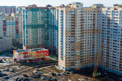 MOSCOW, RUSSIA - March 10 2015, Area of new buildings on  outskirts of Moscow Stock Photo
