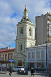 Moscow, Russia - March 14, 2016. Belfry of Temple of Beheading of John the Baptist Royalty Free Stock Image