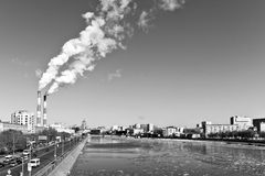 Cityscape of the Moscow, view to Mosc Royalty Free Stock Photography