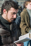 Dmitry Enteo, orthodox activist, reads Bible aloud Stock Image