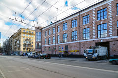 Moscow, Russia - March 14, 2016. General view of  street Novoryazanskaya Royalty Free Stock Photography