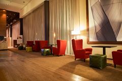 DoubleTree by Hilton. MOSCOW, RUSSIA - MARCH 29, 2015: interior of DoubleTree by Hilton. DoubleTree by Hilton is an American hotel chain and a part of Hilton Stock Photography