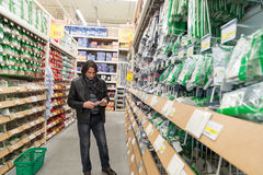 MOSCOW, RUSSIA - MARCH 03, 2015. man makes Stock Image