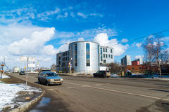 Moscow, Russia-March 20. 2016.  Modern garage complex in Zelenograd Royalty Free Stock Photography