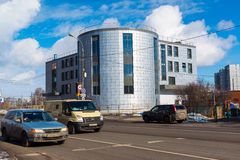 Moscow, Russia-March 20. 2016.  Modern garage complex in Zelenograd Stock Photo