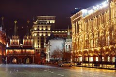Moscow, RUSSIA - MARCH 31: night landscape in early spring in the city center in Moscow on March 31, 2014 Stock Photo