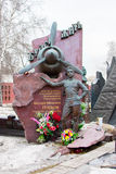 Moscow, Russia. 3 March 2017: Novodevichy Cemetery, the most famous cemetery in Moscow, Russia. Stock Photos