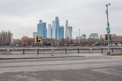 Moscow, Russia. 3 March 2017: Novodevichya, nab, View of Moscow International Business Center Stock Image