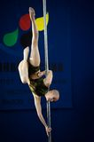 MOSCOW, RUSSIA - MARCH 22: Pole sport elite 2014 on March 22, 2014 in Moscow, Russia. Stock Images