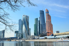 Moscow, Russia, March, 28, 2016. Russian scene: International Business Centre Moscow-City Royalty Free Stock Photography
