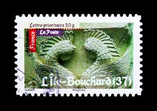 Roman's Art - Life Bouchard, Antic Art serie, circa 2010. MOSCOW, RUSSIA - MARCH 18, 2018: A stamp printed in France shows Roman's Art - Life Bouchard Stock Images