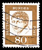 Heinrich von Kleist 1777-1811, poet, Famous Germans serie, circa 1961. MOSCOW, RUSSIA - MARCH 23, 2019: A stamp printed in Germany, Federal Republic shows stock photo