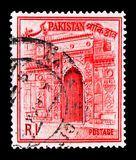 Chota sona Masjid, Country Views serie, circa 1963. MOSCOW, RUSSIA - MARCH 18, 2018: A stamp printed in Pakistan shows Chota sona Masjid, Country Views serie Royalty Free Stock Photo