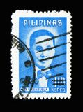 Doctor Pio Valenzuela, Patriots serie, circa 1974. MOSCOW, RUSSIA - MARCH 18, 2018: A stamp printed in Philippines shows Doctor Pio Valenzuela, Patriots serie stock photo