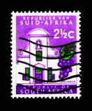 Groot Constantia, Definitive Issue - Decimal Issue serie, circa. MOSCOW, RUSSIA - MARCH 18, 2018: A stamp printed in South Africa shows Groot Constantia stock photography