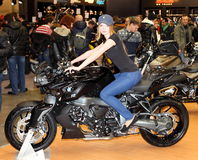 MOSCOW, RUSSIA - MARCH-02-2013: 10th International Motorcycle Ex Stock Photography
