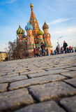MOSCOW, RUSSIA - MARCH 24, 2014: View to the Saint Basil Cathedr Royalty Free Stock Photos