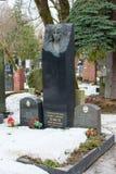 moscow russia 3 mars 2017: Novodevichy kyrkogård, den mest berömda kyrkogården i Moskva, Ryssland Arkivfoto