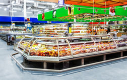 Moscow, Russia - MART 29: Shopping center Lenta on  MART 29, 201. 7 in Moscow, Russia. Lenta is one of the largest companies on russian market Stock Photos