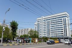 Area Peasant Outpost and the Prosecutor`s Office building in Moscow. Stock Image